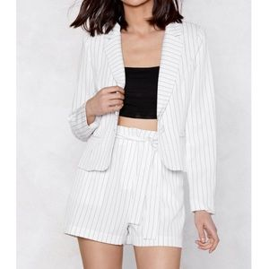 Co-Ord Matching Short and Blazer Set